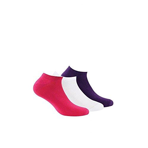 Socke unsichtbare - 3 pack - ohne Frotte - Fine - Coton - Multicolore - Essentiel - 37/41
