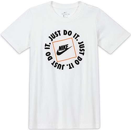 NIKE JDI Box, Camiseta Niños Unisex, White, L