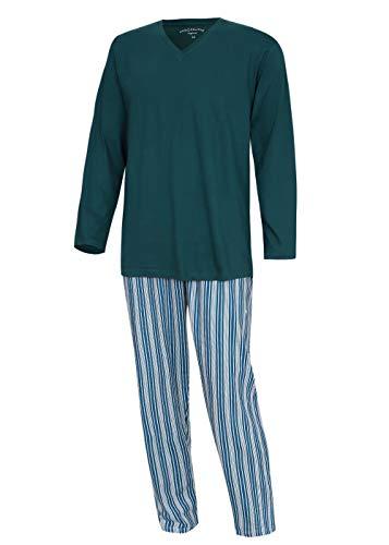 KB Socken Schlafanzug Pyjama Hausanzug Nachtwäsche Herren Baumwolle Moonline Nightwear (Grün, L)