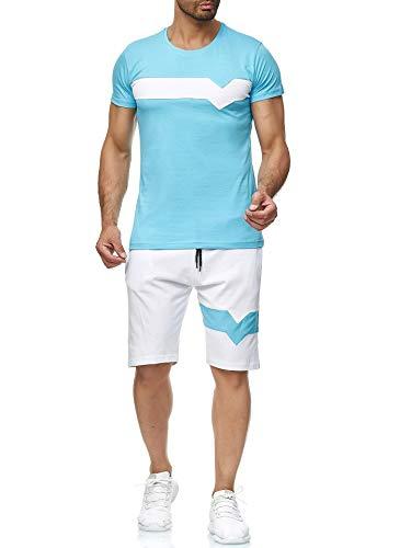 VANVENE - Conjunto de chándal casual para hombre, camisetas y pantalones cortos para correr, atletismo