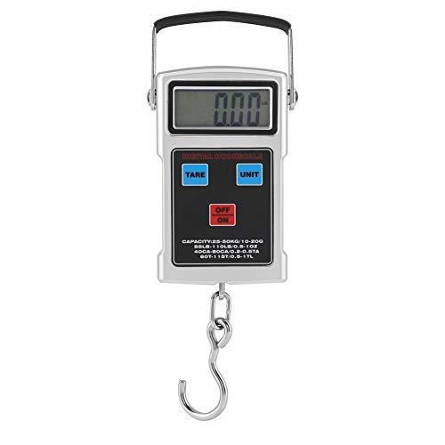 iFCOW 50kg fischen elektronische Waage tragbare elektronische LCD Digitale Waage mit maßband Haken für Jagd Angeln Post küche