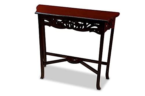 Nantucket - Mesa auxiliar (madera de caoba, 76 cm), diseño colonial