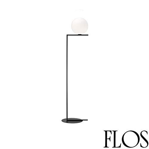 Flos IC F1 vloerlamp E14 60 W glas opaal zwart F3173030