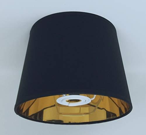 20 cm schwarz Empire Lampenschirm Gold Futter Lampenschirm handgefertigt Tischlampe