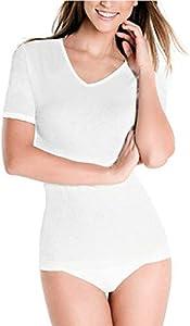 Princesa 4796 - Camiseta termica Mujer 100% Algodon by Playtex (M)