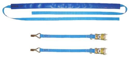 Braun Motorrad Bike-Lashing-Set 1000 daN, Farbe blau, Set 4teilig, mit 2 Ratschenteilen
