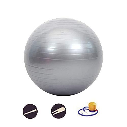 DAZISEN Anti-Burst Pilates Ball - Explosionsgeschützt Gymnastikball Enthalten Einfach Luftpumpe, Erhältlich in 5 Farben und 6 Größen, Silber-6, 95CM