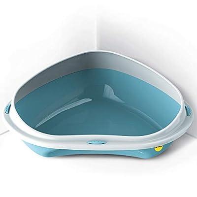 CatCentre® Cat Jumbo Corner Litter Tray With Rim Toilet Pan Box 4 Colours