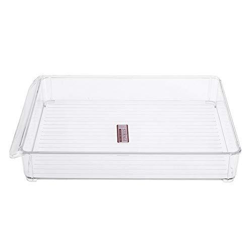 Caja de almacenamiento del refrigerador de la cocina, estante plástico del ahorro de espacio de la conservación en cámara frigorífica del congelador de la diapositiva(6138-Small)