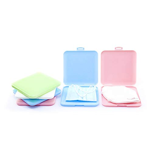 Smart Safe Porta Mascherine - Set da 4 Pezzi - Custodia per Mascherina Rigida Antibatterica - Idea Regalo - Adatto ad Adulti e Bambini - Organizer per Borsa e Tascabile.