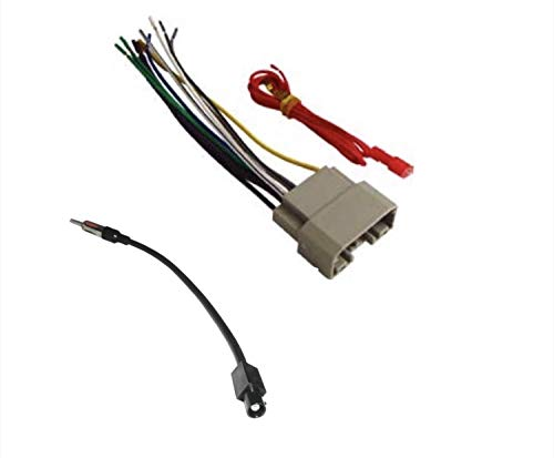 ASC Audio Car Stereo Wire Harness and Antenna Adapter to Install an Aftermarket Radio for Some Dodge Chrysler Jeep Vehicles- Compatible Vehicles Listed Below