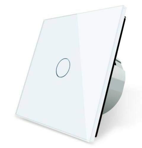 LIVOLO Wechselschalter Kreuz -Schalter 1 Fach VL-C701S-11 Touch Lichtschalter Wandschalter Glasrahmen Glas Blende