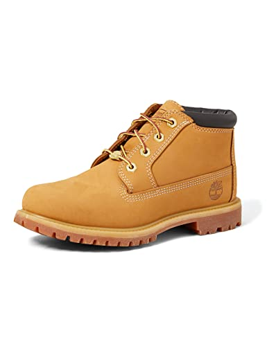 Timberland Women's Nellie Double Waterproof Ankle Boot,Wheat Yellow,9 M US