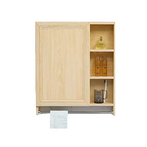 MJK Espejo de pared, gabinetes de espejo ocultos de aleación de aluminio estante de baño vanidad gabinete de pared estante de almacenamiento espejo interno espejo, amarillo, 8012.570 cm