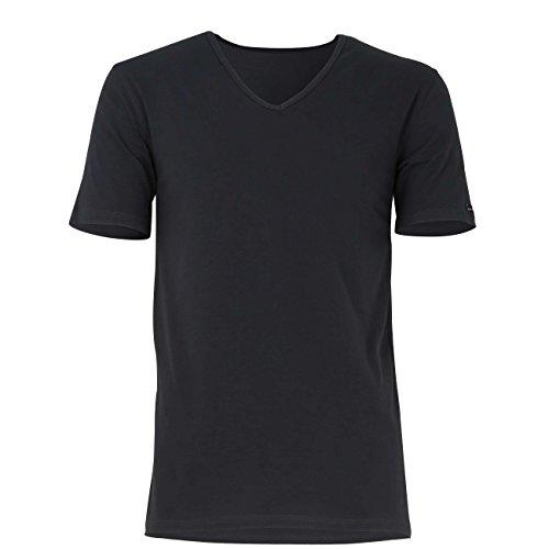 BALDESSARINI Paquete de 2 Camisetas de Hombre - Camiseta, Cuello en V, Media Manga, algodón elástico (Negro, XL (X-Large))