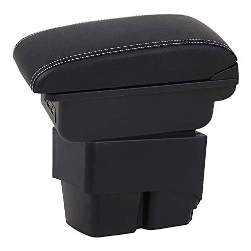 Caja De Almacenamiento Reposabrazos Para Ford Fiesta 2009-2015, Coche Consola Central Apoyabrazos Protectora Almohadilla De Reposabrazos Con USB AutomóVil Interio ModificacióN Accesorios