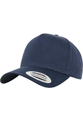 Flexfit 5-Panel Curved Classic Snapback Kappe, Navy, One Size