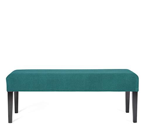 GETMOREBEAUTY Darkgreen, Meduim - Funda de comedor rectangular de tela elástica para banco de mesa de cocina