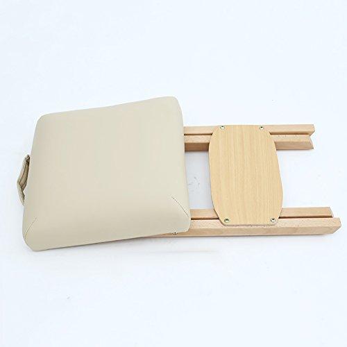 LJHA Tabouret pliable Tabouret pliable en bois solide/tabouret de massage de cosmétologie/tabouret d'étude/chaussure de chaussure de porte (33 * 56 cm) chaise patchwork (Couleur : Blanc)