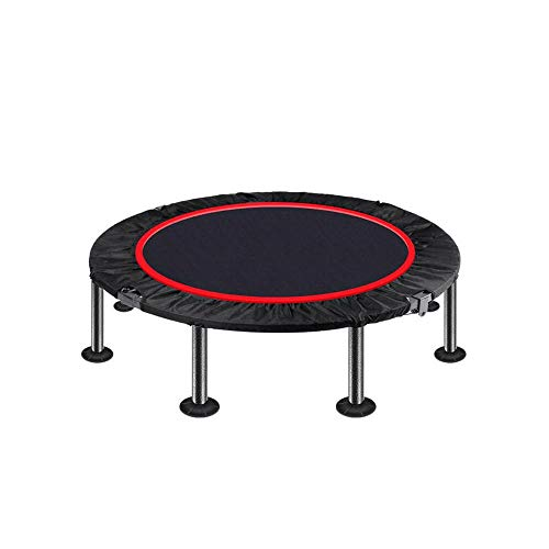 JKHK Mini Fitness Exercise Trampoline,Rebounder Trampette for Gym, Indoor Workout, Cardio, Weight Loss - Foldable, with Adjustable Handle