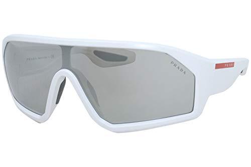 Prada Linea Rossa occhiale da sole PS 03VS AAI05A Bianco argento taglia 36 mm Uomo