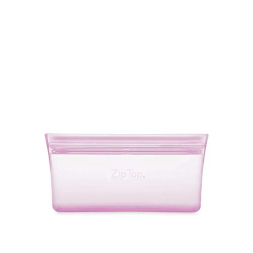 Zip Top Reusable 100% Silicone Reusable Food Storage Bag and Container - Snack Bag - Lavender