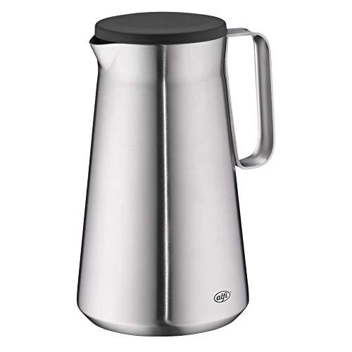 alfi Drive!, Thermoskanne Edelstahl mattiert 1,0l mit doppelwandigem TopTherm Edelstahl-Isoliereinsatz. Ideal als Kaffeekanne oder als Teekanne, für zu Hause oder im Büro