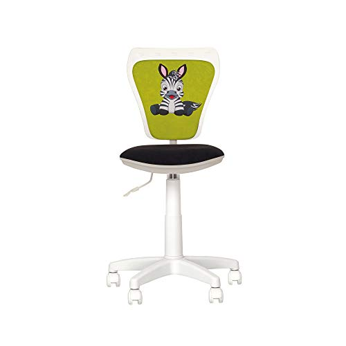 Silla experta minilícita – Silla de escritorio infantil con volante a 360 ° – Altura ajustable – Respaldo ajustable – Asiento ajustable en profundidad