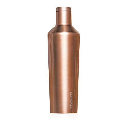 Corkcicle Canteen Classic Collection - Water Bottle & Thermos - Triple Insulated Shatterproof Stainless Steel, New Electroplate Copper, 25 oz.