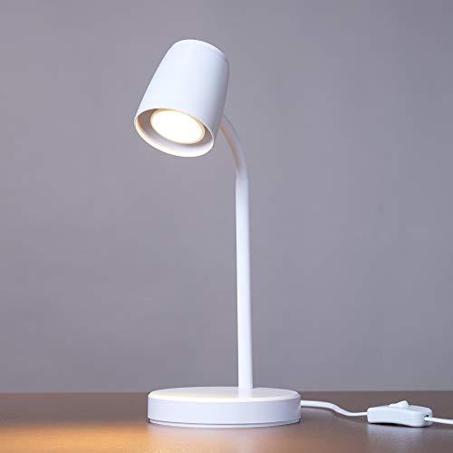 kalb | LED Tischleuchte weiß Leuchtmittel austauschbar GU10 warmweiß 230V