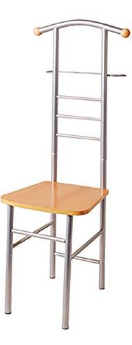 Haku Möbel Herrendiener - Stuhl - aus alufarbenem Stahlrohr mit Sitzfläche 119 cm