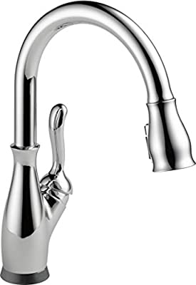 Delta Faucet Leland Single-Handle Touch Kitchen Sink Faucet with Pull Down Sprayer, Touch2O and ShieldSpray Technology, Magnetic Docking Spray Head, Chrome 9178T-DST (Renewed)