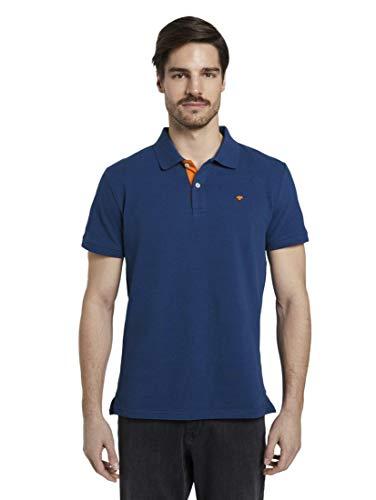 TOM TAILOR Herren Poloshirts Basic Poloshirt After Dark Blue,XXL