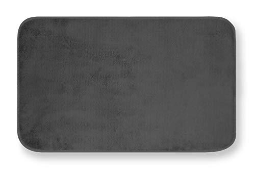 GEMITEX Tappeto MERLINO 50X80 ULTRASSORBENTE, Polyester, Antracite