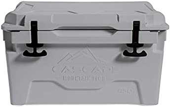 Cascade Mountain Tech Heavy-Duty 45-Quart Cooler Built-in Bottle Opener for Camping, BBQs, Tailgating & Outdoor Activities - Grey (RC-45-GY-E)