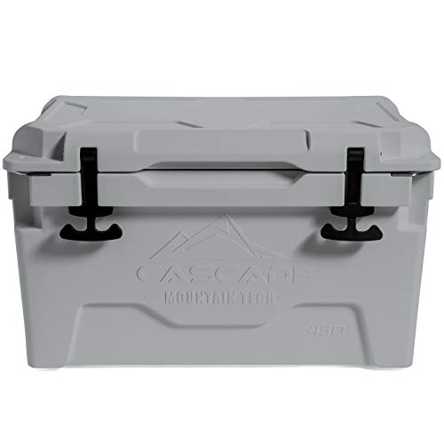 Cascade Mountain Tech Rotomolded Cooler - Heavy Duty for Camping, Fishing, Tailgating, Barbeques, and Outdoor Activities - 45 Quart