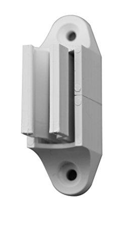 Schellenberg 11103 Support Mural pour manivelle pour Volets roulants-réglable en Hauteur & Blanc, Blanc