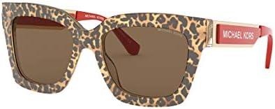 Michael Kors MK2102 399773 Brown Leopard Berkshires Square Sunglasses Lens Cate 54mm product image