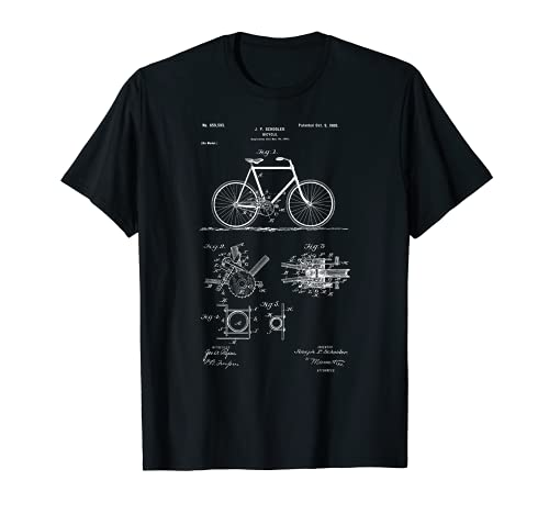 Vintage Patent Print 1900 Bicycle Cycling Gift T-Shirt