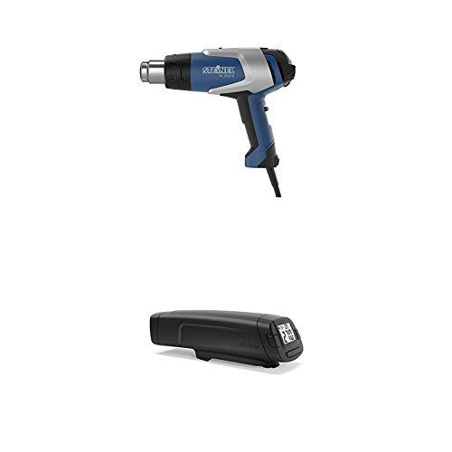 Steinel Heißluftpistole HL 2020 E, inkl. Temperatur-Messgerät HL Scan, 2200 W Heißluftfön, LCD-Display, Resthitzeanzeige