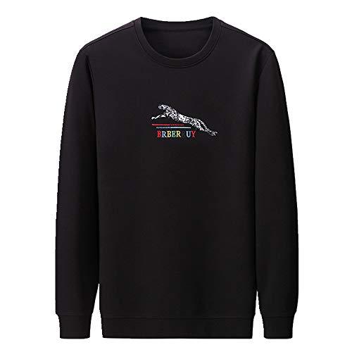 Camiseta de manga larga para hombre de primavera y otoño, camiseta de cuello redondo para jóvenes