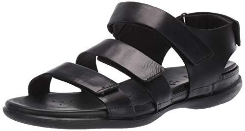 ECCO Women's Flash Strap Sandal, Black Nubuck, 39 M EU (8-8.5 US)