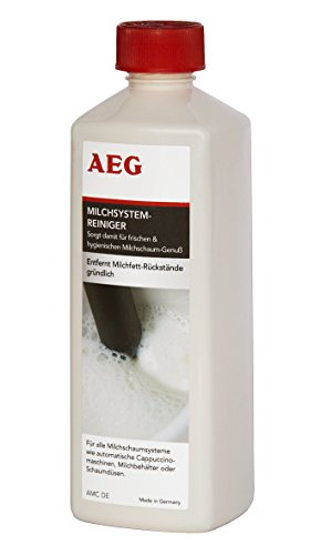 AEG AMC DE Spezial-Reiniger für Milchschaumsysteme, 500 ml, Geeignet für Vollautomaten, Pad- und Kapselmaschinen