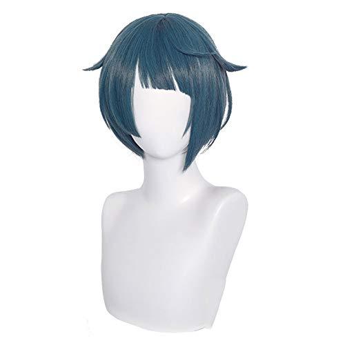 Peluca Corta Azul, Juego Anime Peluca de Cosplay Peluca de Cosplay Pelucas Diarias Resistentes Calor Cosplay o Uso Diario