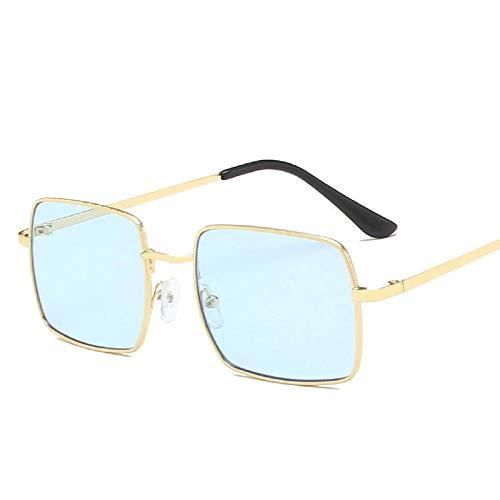 Gafas De Sol con Montura Metálica De Moda para Mujer, Gafas De Sol Cuadradas De Diseñador De Lujo Vintage, Espejo De Tendencia Femenina 8