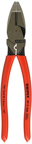 Knipex 09 11 240 SB Universal Lineman's Pliers- Alicate 240 mm, color rojo