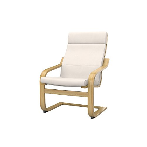 Soferia - IKEA POÄNG Funda para sillón, Eco Leather Light