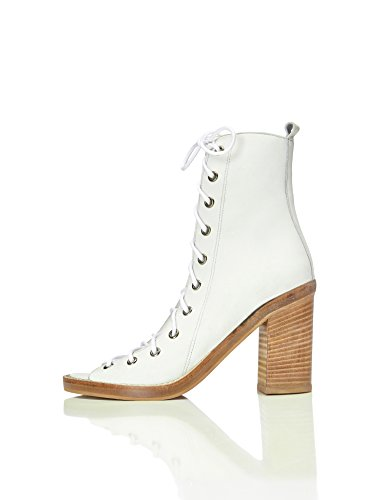 find. Sandalias de Tacón con Cordones para Mujer, Blanco (White), 39 EU
