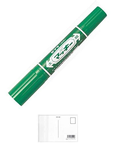 ゼブラ ハイマッキー 緑 MO-150-MC-G 2個セット + 画材屋ドットコム ポストカードA