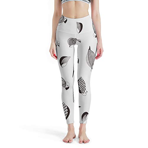 Little Bird - Leggings de fitness para mujer, diseño activo de yoga, color blanco